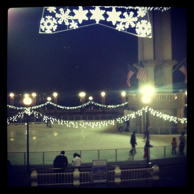 Waterfront skating