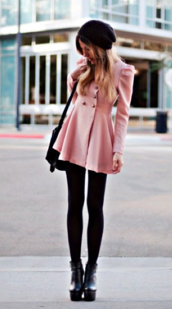 Pea Coats and tights
