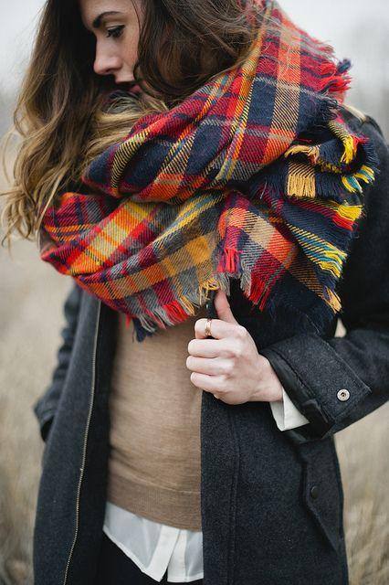 Plaid scarf.. check check check
