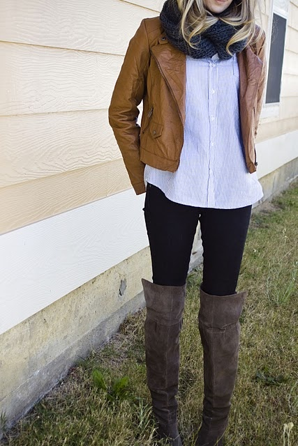 Long shirts, leggings and BOOTS!
