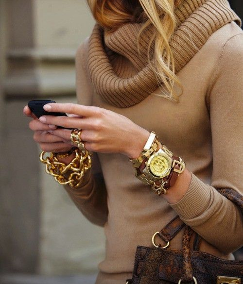 Chunky Sweater and Chunky Wrist Candy