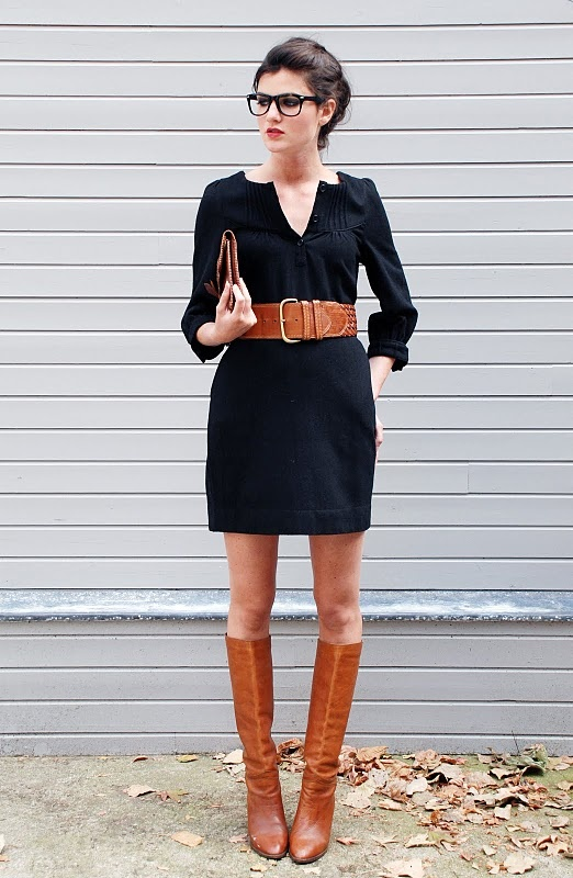Knee High Boots and dresses!